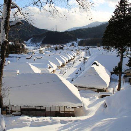 Оути-дзюку под снегом
