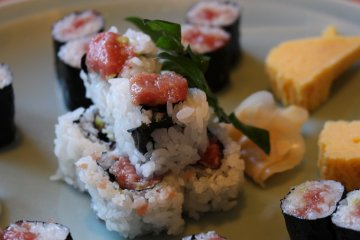 <p>Selection of maki sushi</p>