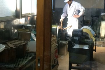 <p>At Tamariki Confectionery Shop you can watch the staff at work through the glass. If you make a prior reservation, you can even try your hand at making traditional candy. Here is their phone number: 049-222-1386</p>