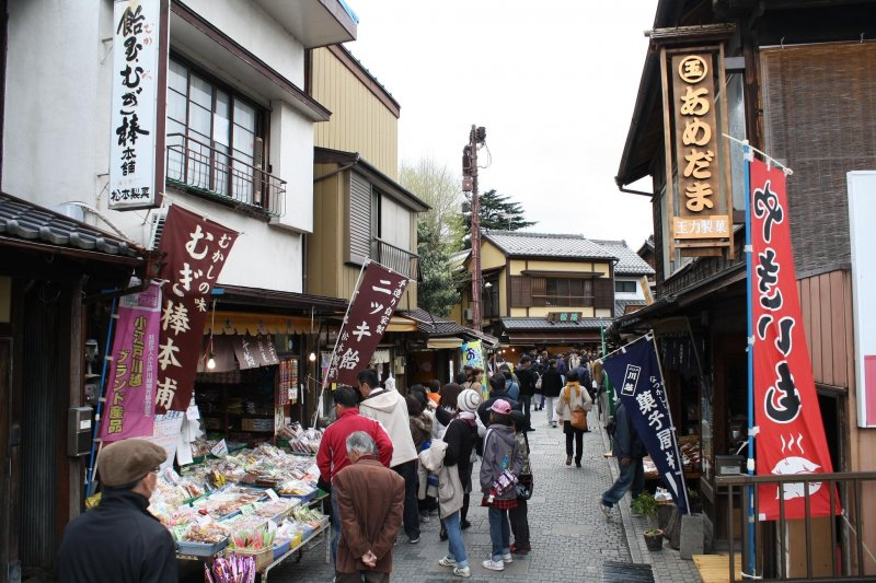 <p>Looking down Penny Candy Alley. It is even more crowded and lively on holidays.</p>