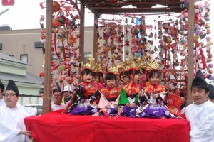 The girls on the sagemon float