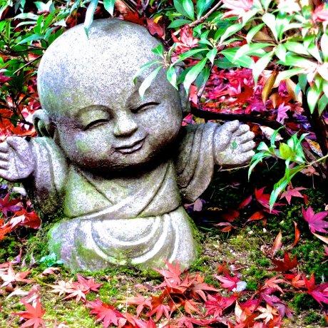 Miyajima's Very Cute Jizo Statues!