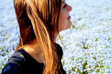 <p>...and taking tons of pictures of my friend. This place is a paradise for Facebook profile photos.</p>