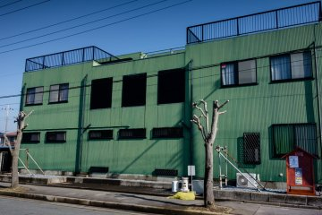 <p>The exterior of the sumo school</p>