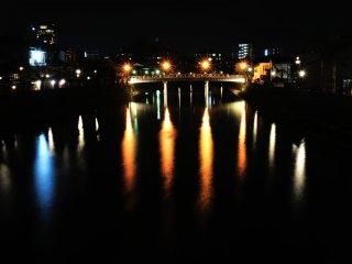 สะพานนะคะโนะ ในเมือง Kazue-machi