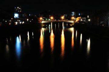 <p>Nakano Bridge in Kazue-machi Town</p>