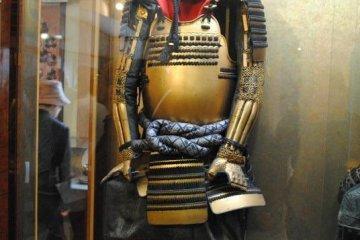 Replica of Tokugawa Ieyasu`s golden armor of his younger days