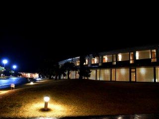 Prince Hotel освещённый ночью