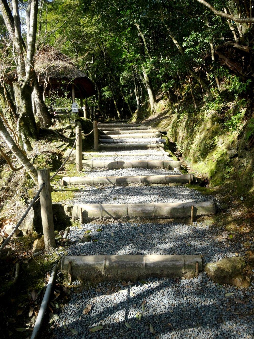 ทางเดินหินในสวน