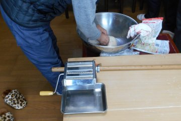 <p>Kneading the dough</p>