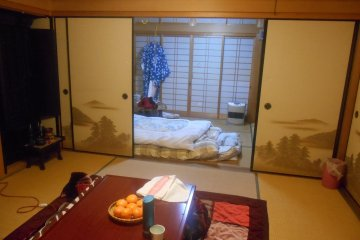 <p>The room of this guest house</p>