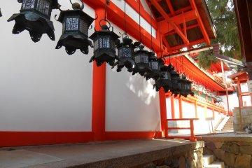 <p>A row of bronze lanterns&nbsp;</p>
