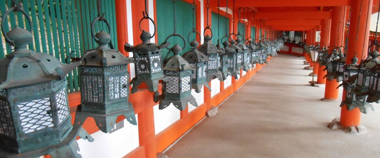 East cloister lanterns