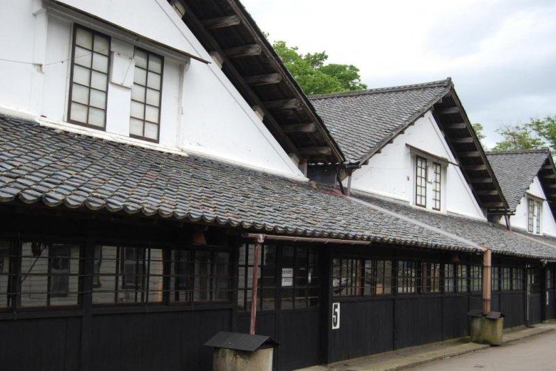 Front site of Sankyo Rice Warehouses in Sakata City