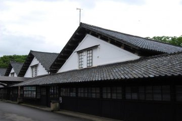 The Sankyo Rice Warehouses in Sakata City are still being used today.