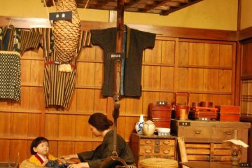 Display at the Shonai Rice Historical Museum.