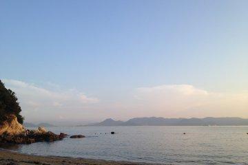 <p>Public swimming beach at Tsutsujiso Lodge</p>