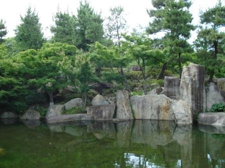 The pond - the centrepiece of Tokugawa-en