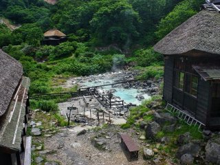 Kuroyu consists of a ramshackle collection of wooden buildings set deep in the forest. Stunning surroundings, steaming pools and the strong smell of sulphur greet you upon your arrival. Drop your bags in your room and head to the baths!