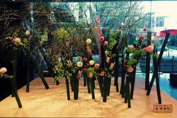 A beautiful flower arrangement in the lobby.