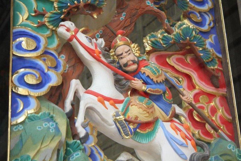 Intricate designs at Hodosan Jinja