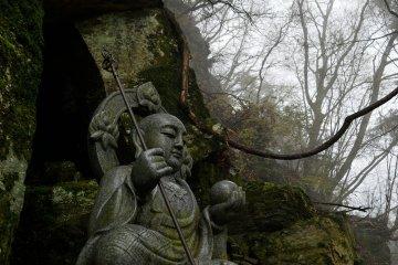 <p>Statue of Ksitigarbha, a bodhisattva (Buddhist monk)</p>