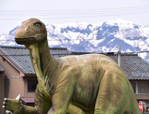 恐竜王国の勝山駅