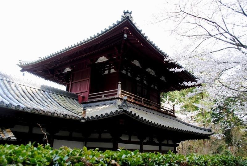 Ryotanji from the path from Iinoyagu Shrine