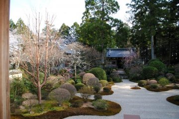 Ryotanji front garden from the main building