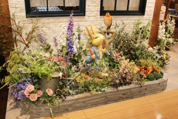 <p>Peter Rabbit in his famous pose</p>