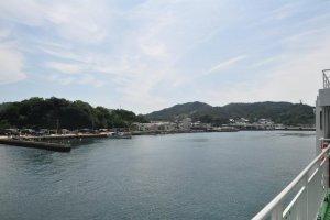 Arriving at Naoshima Port
