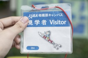 Sign in at the entrance to recieve one of these cute looking visitor passes. Entry to the JAXA Sagamihara Campus is free and open to the public 365 days a week.