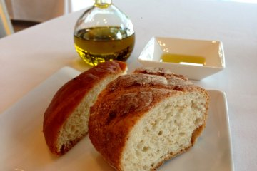 Rosemary brioche was light and tasty but the wheat bread was underwhelming.