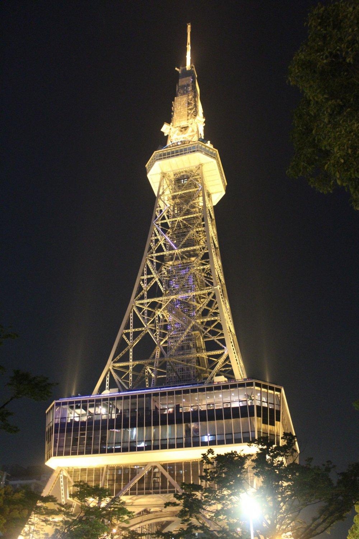 Nagoya TV Tower explodes into life at night