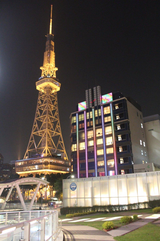 A mini glowing Eiffel Tower