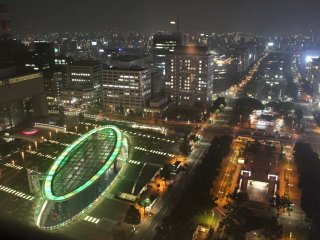The Oasis 21 changing to green and Nagoya shining bright