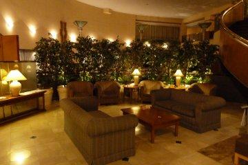 <p>Lobby area inside the hotel</p>