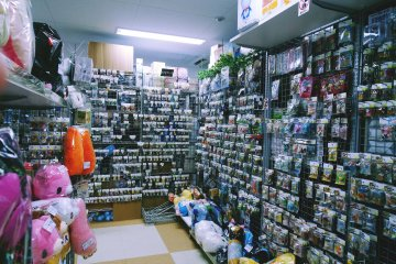 <p>Multiple individual shops are located on the same floor that sell everything from stuffed animals of your favorite characters to key chains and figurines.</p>
