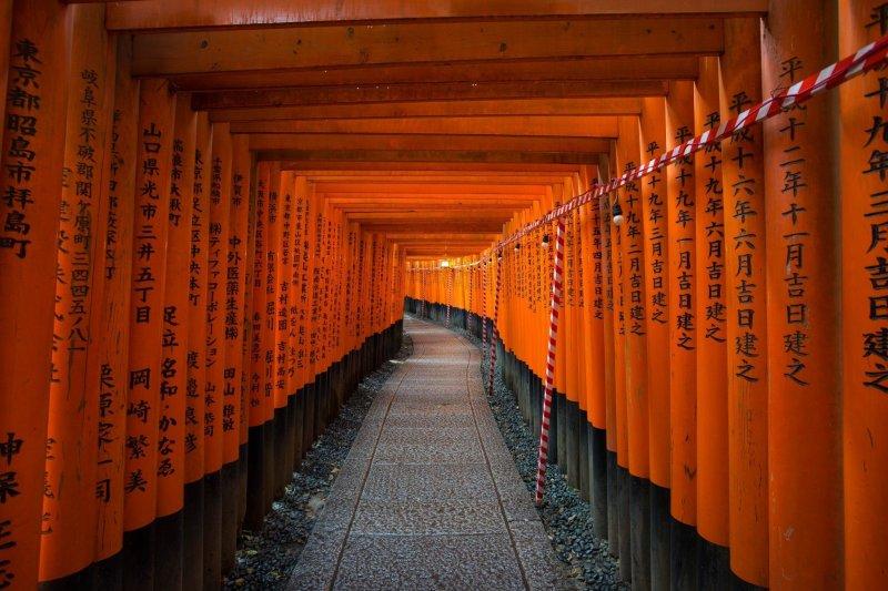 Знаменитое святилище Фусими Инари