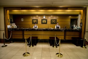 The friendly receptionists welcome you into Grand Hotel Hamamatsu, and are happy to assist with your every need.