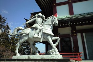 Statue of a Samurai Guarding the Shrine