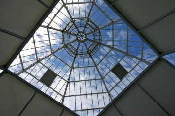 <p>Inside the glass dome</p>