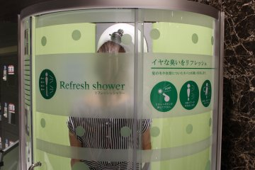 <p>On your way out, try the refresh shower for a quick detox</p>