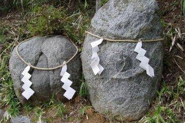 Ubuishi Stone in Shrine