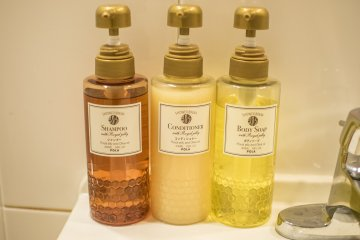 Shower amenities are provided to ensure a nice shower every time.