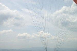 Angle d'image impressionnante d'un décollage en Tandem