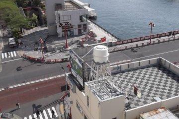 <p>La vista desde la terraza del noveno piso</p>