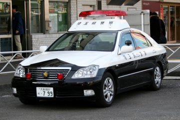 A typical Japanese police car