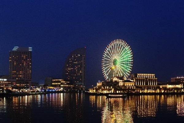 landscape pelabuhan Yokohama yang kini tampak seperti negeri dongeng