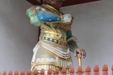 <p>One of the two guard deities of Yakushiji</p>